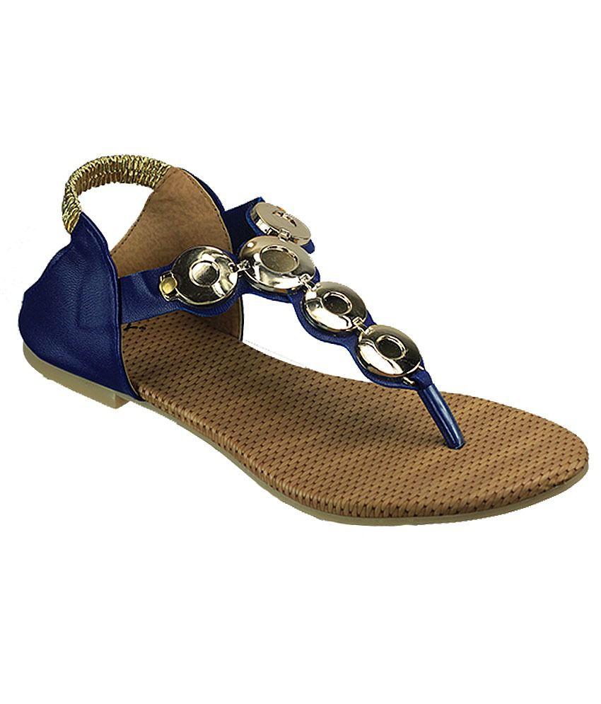 Dziner Ankle Strap Blue Sandal