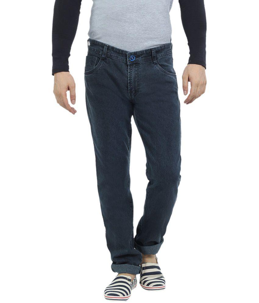 Vituda Grey Narrow Fit Denim Lycra Jeans For Men