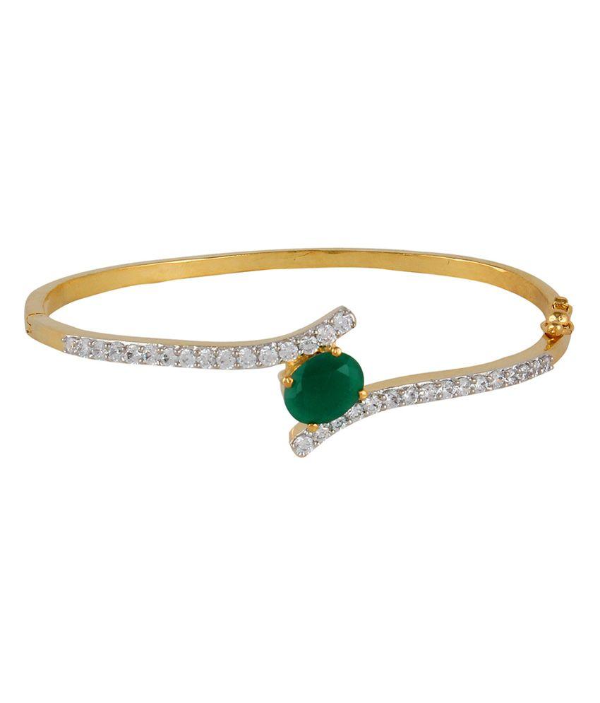 Affinity Green American Diamond Designer Bracelet
