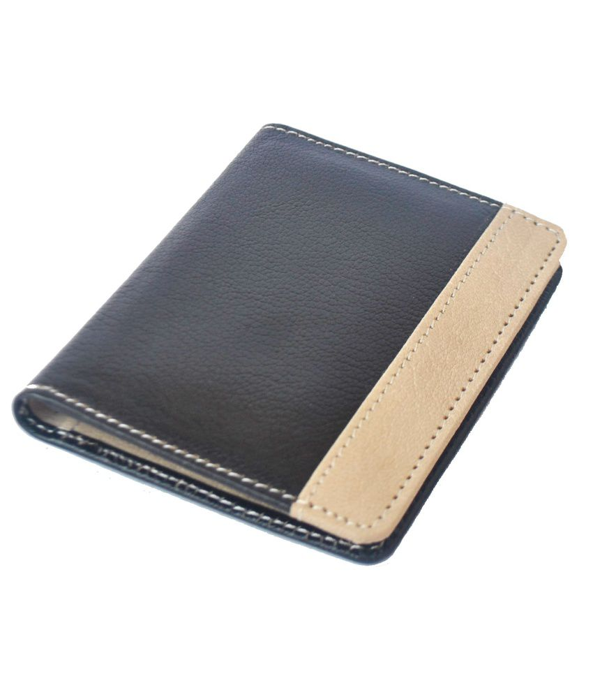 Modish Genuine Brown Leather Bi-Fold Credit Card Holder