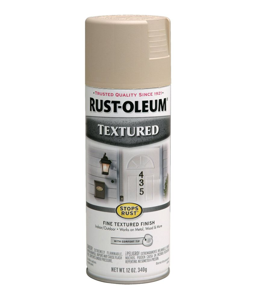 Buy Rust Oleum Stops Rust Textured Spray Paint Color Sand Stone Online At Low Price In India