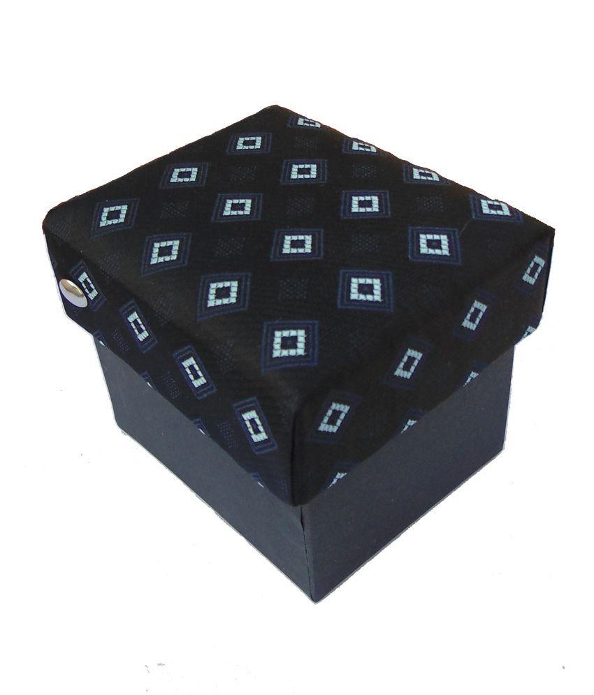 Aarav Textiles Micro Tie & Cufflink Gift Set With Handkerchief
