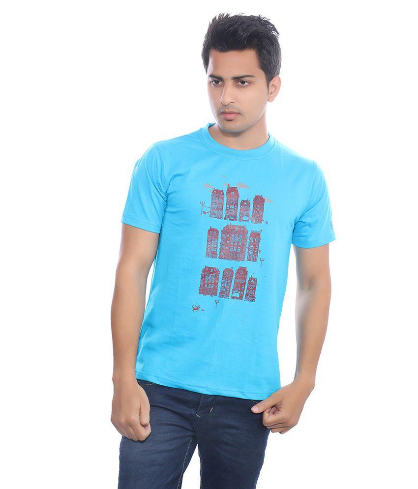 Fabilano Turquoise Cotton T-Shirt