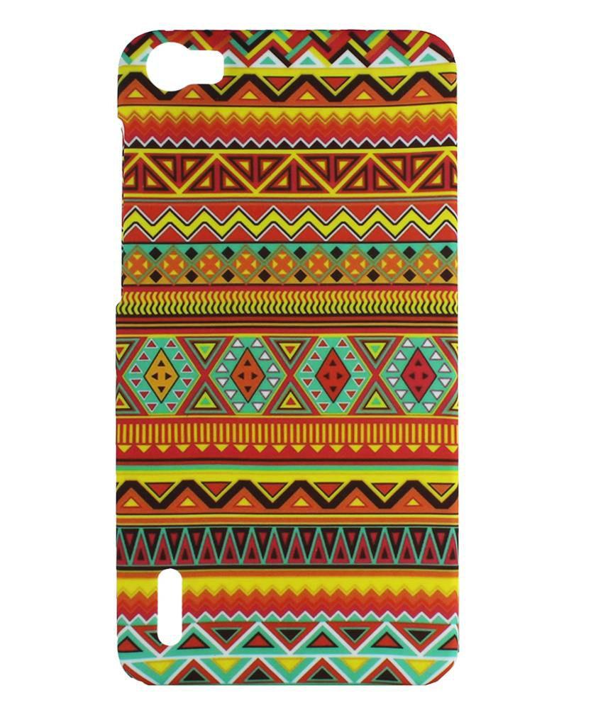 9ce1c124ca45d Heartly Aztec Tribal Art Design Retro Color Armor Hard Bumper Back Case  Cover For Huawei Honor 6 4C Dual Sim - Vintage Orange - Plain Back Covers  Online at ...