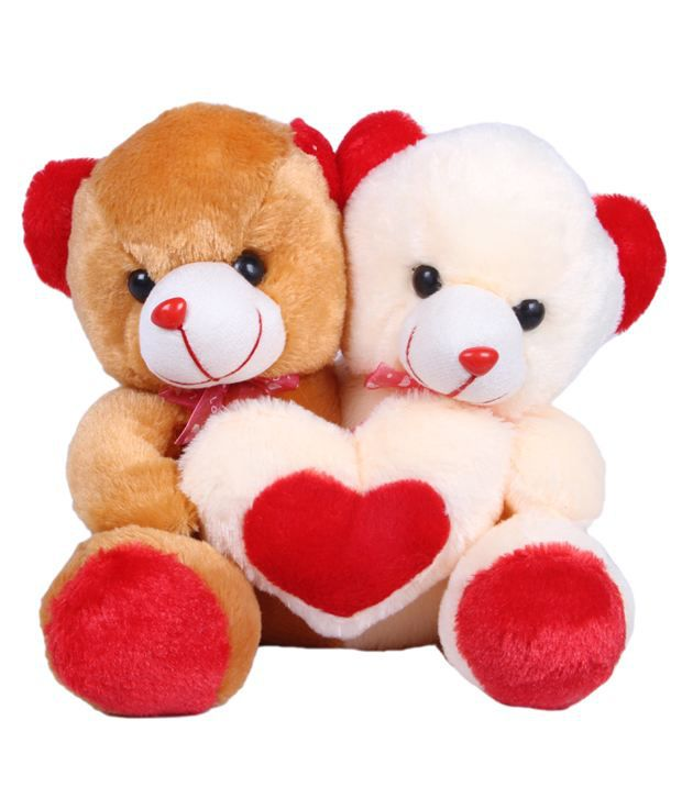 Joy Brown Cuddling Teddy Bear Pair Medium