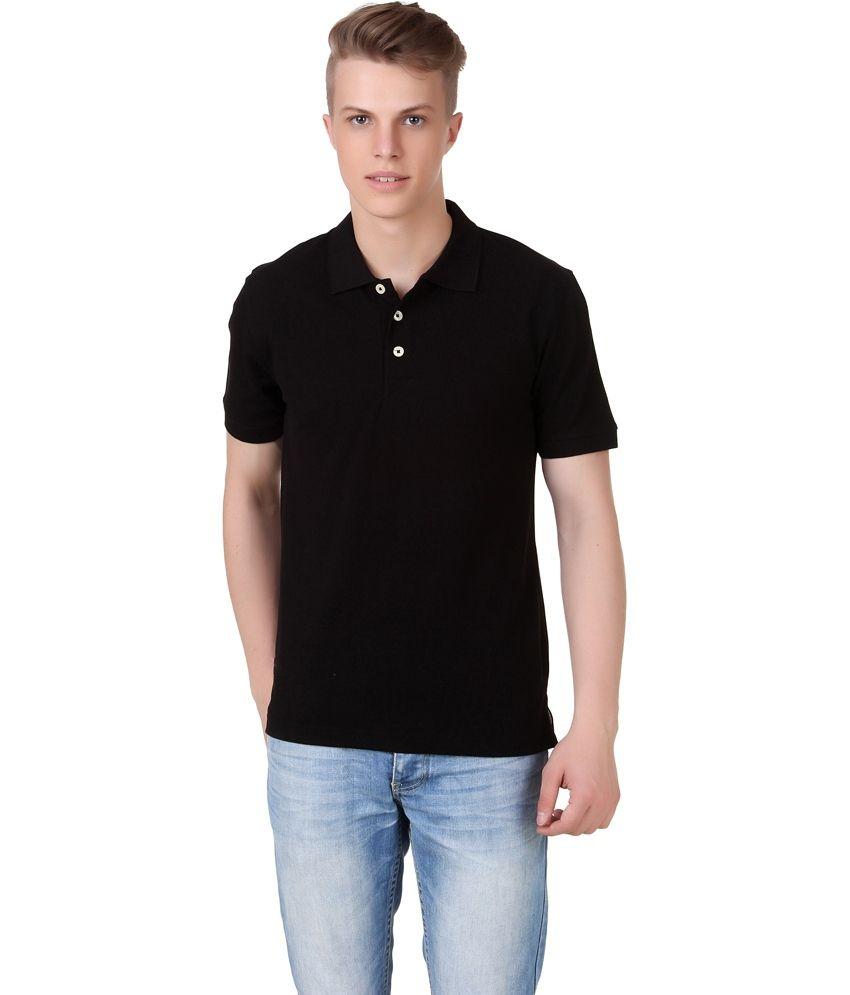 Knit & Knot Black Polyester T-Shirt