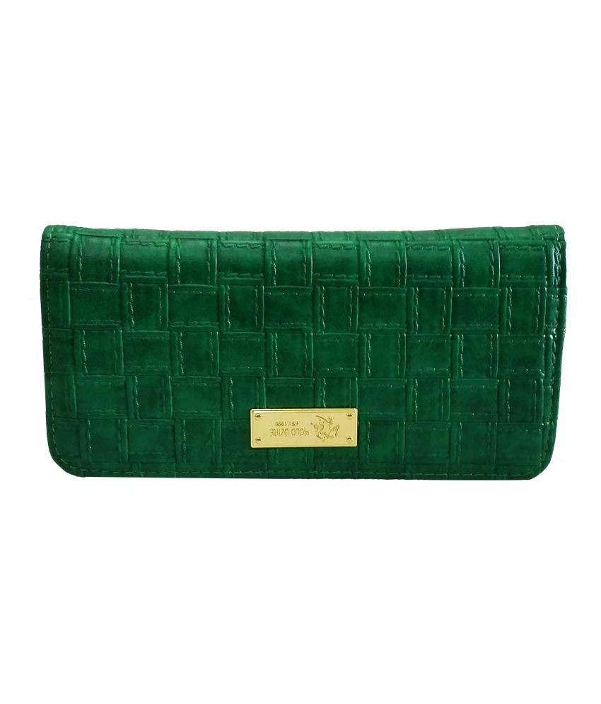 Verceys Green Matte Finish Fashionable Women Wallet