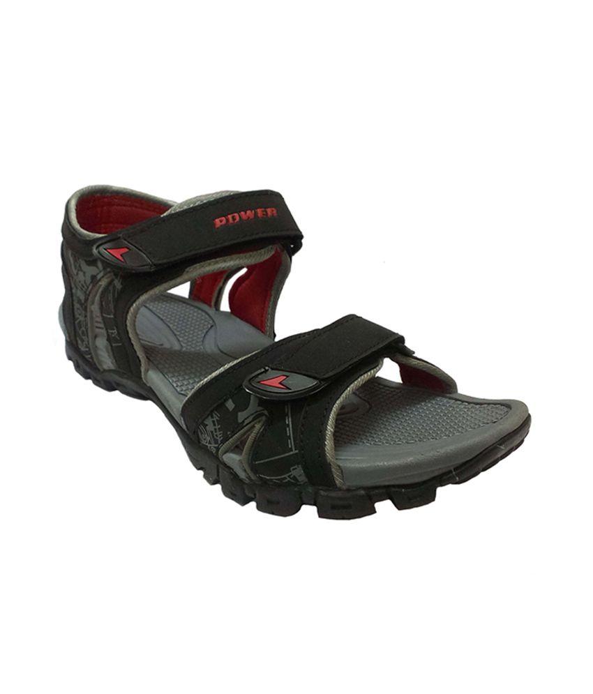 Bata Gray Power Light Weight Sporty Sandals For Men Buy