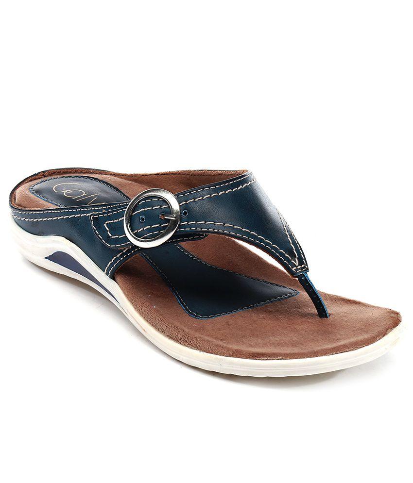 Catwalk Blue Flip Flops