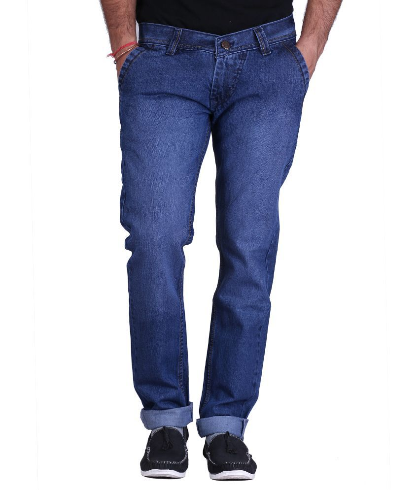 Ansh Fashion Wear Blue Cotton Strechable Jeans