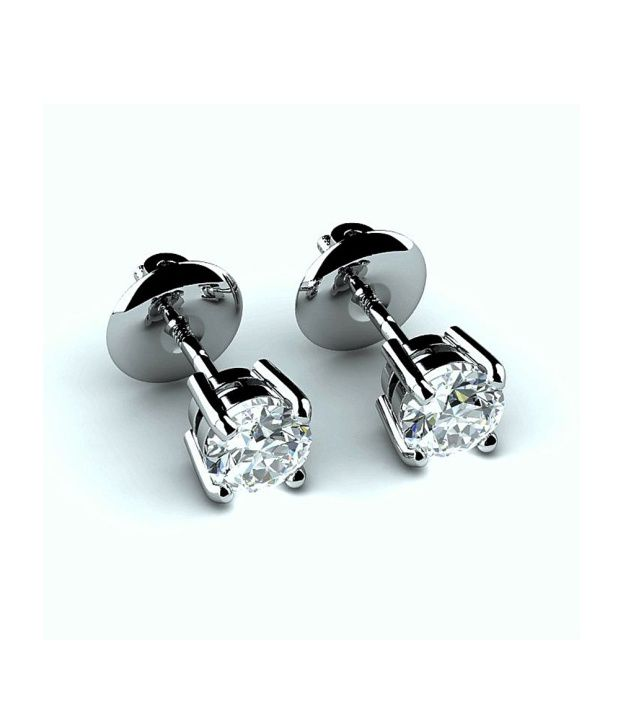FacetzInspire Real Diamond 92.5 Sterling Sliver Earring - FISER49
