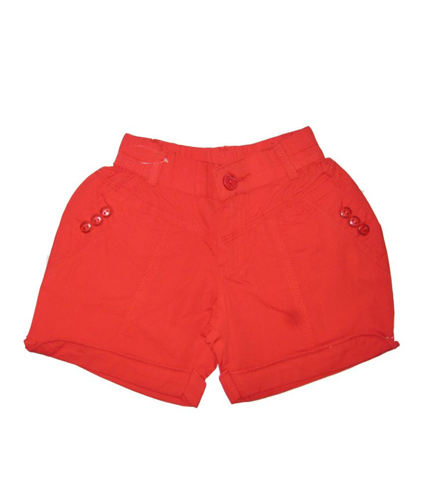Kandy Kids Red Cotton Shorts