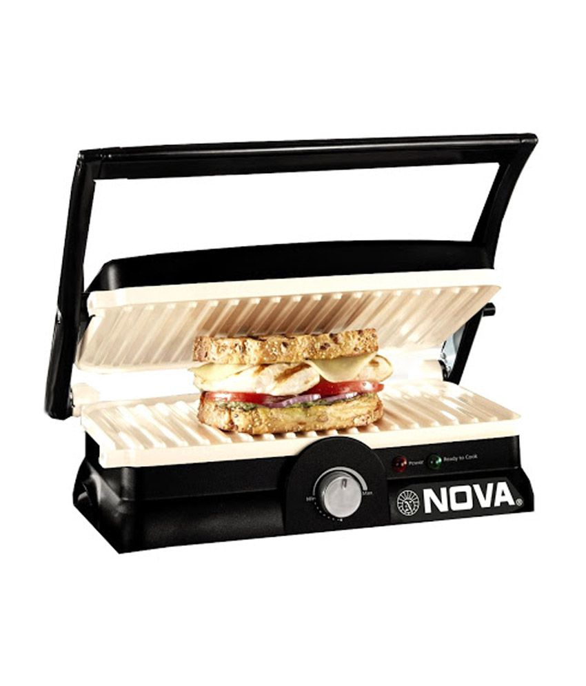 Nova NGS 2455 3 In 1 Panni Grill With Temperature Control and Ceramic Coating