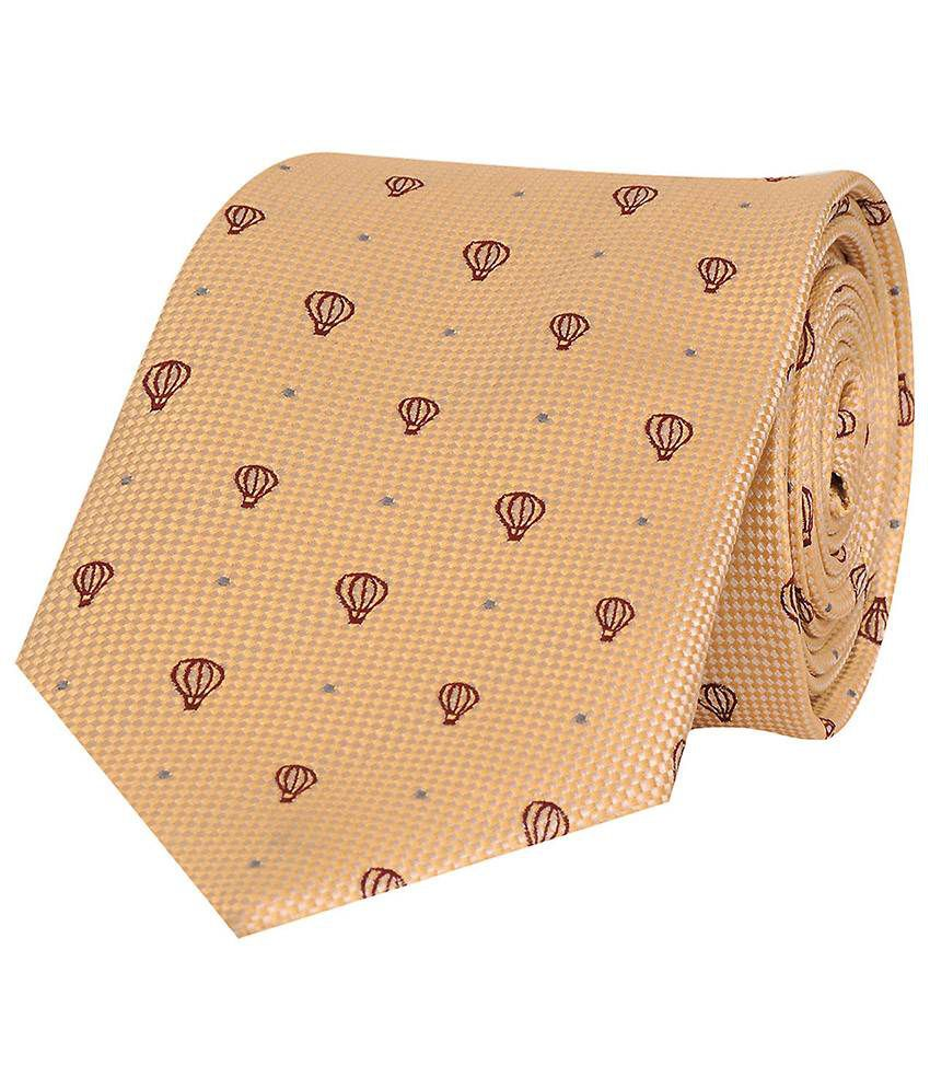 Tiekart Beige Casual Tie For Men