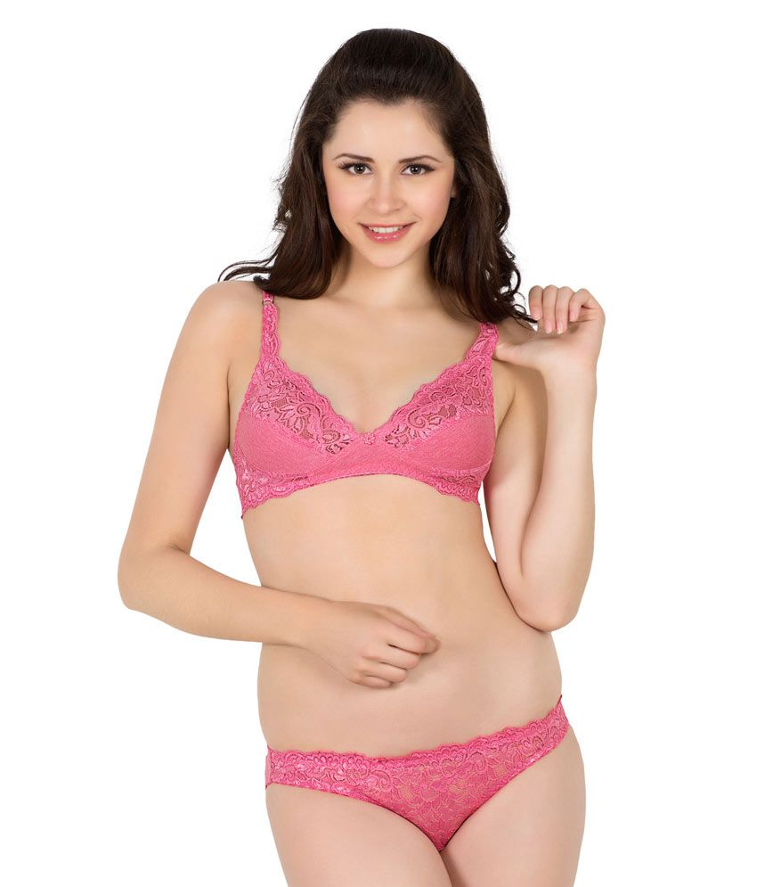 aa4a56d344c86 Buy Simoni Pink Bra   Panty Sets Online at Best Prices in India - Snapdeal