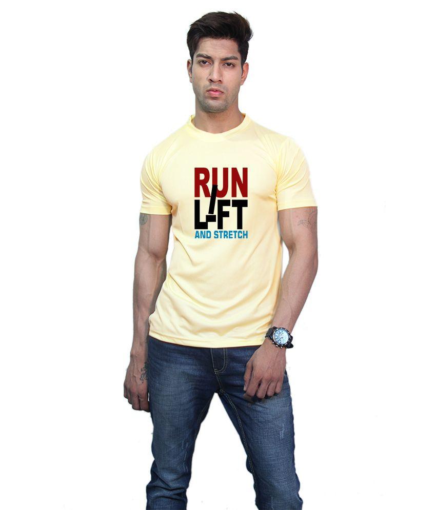 Printland Effit Run Lift Yellow T Shirt