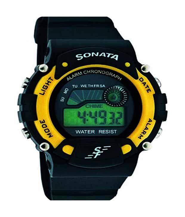 90bd3e4ba Sonata Yellow Digital Sports Watch Price in India: Buy Sonata Yellow  Digital Sports Watch Online at Snapdeal