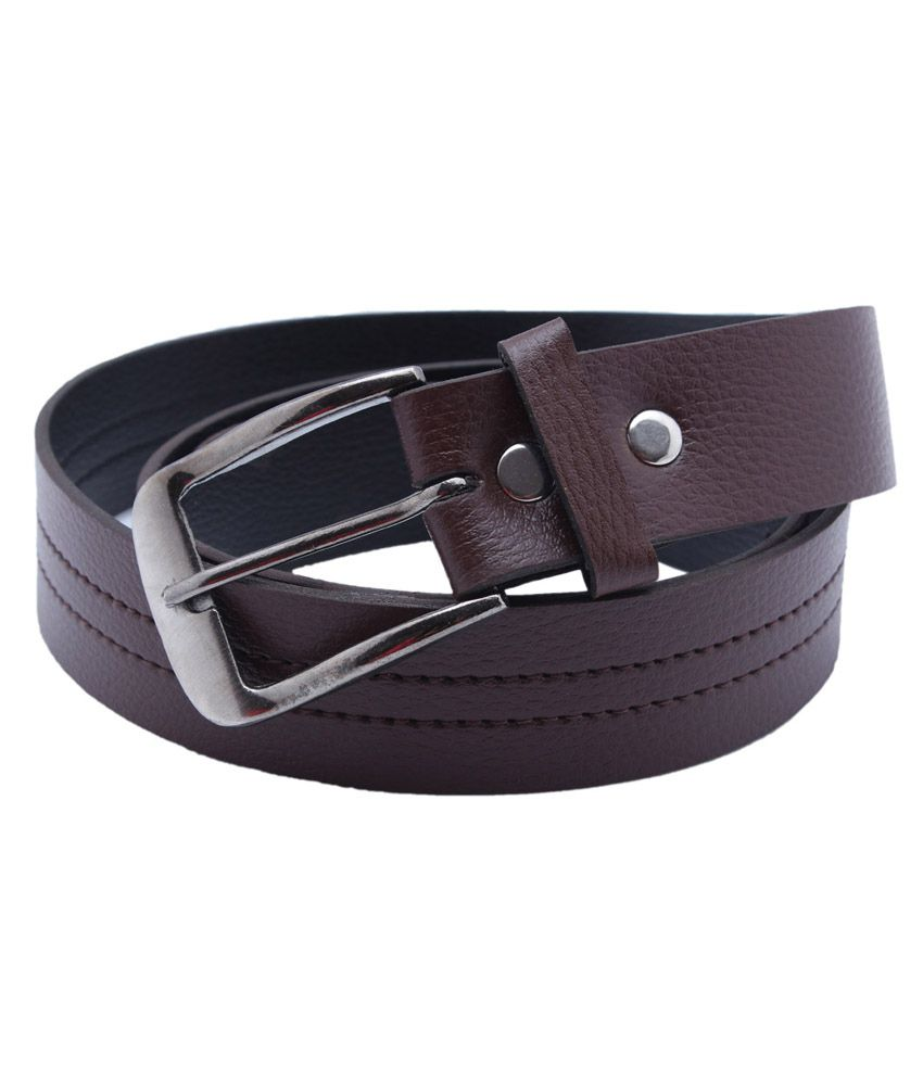 Taboo Brown Pin Buckle Synthetic Belt