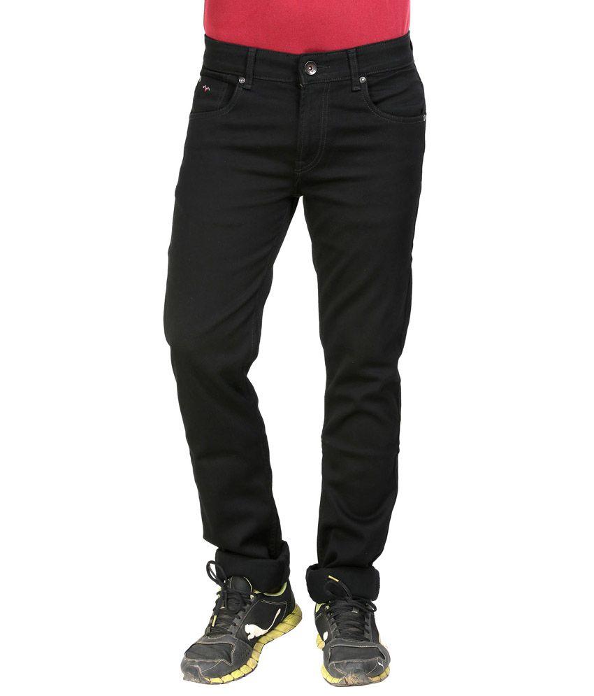 wert solid black slim fit denim jeans for men buy wert solid black slim fit denim jeans for. Black Bedroom Furniture Sets. Home Design Ideas