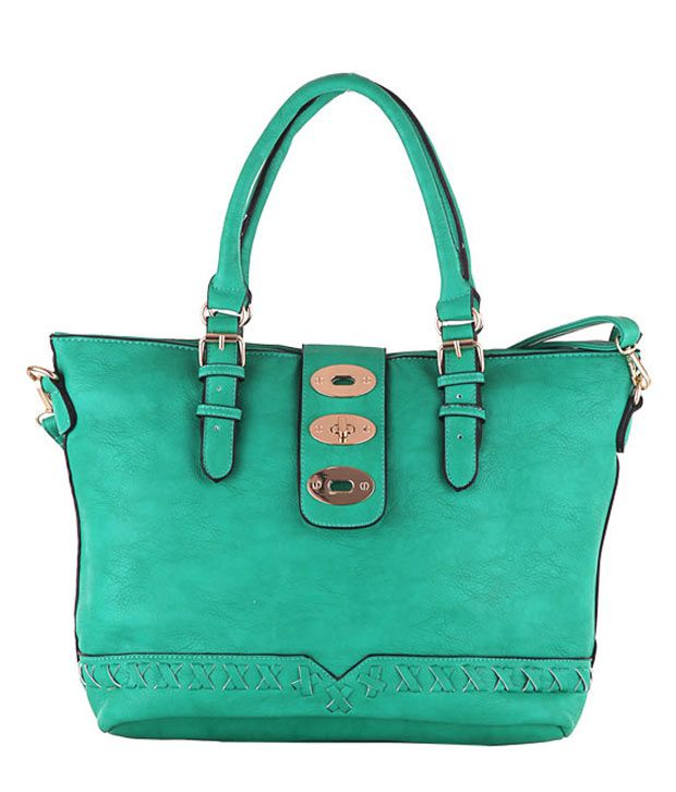 Aliza Green P.U. Two Compartments Shoulder Bag