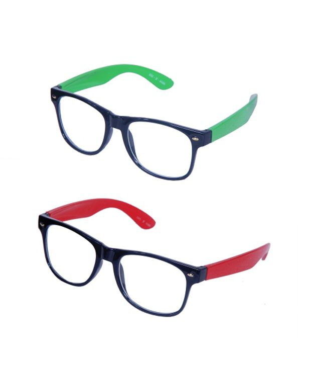 Artzz Green And Red Cool Unisex Wayfarer - Buy One Get One Free