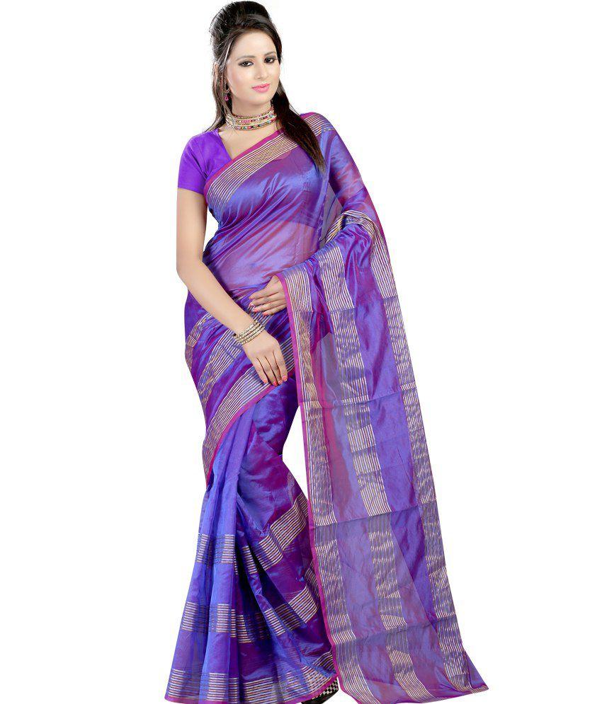 Harsh Fashions Blue Meghalaya Silk Saree