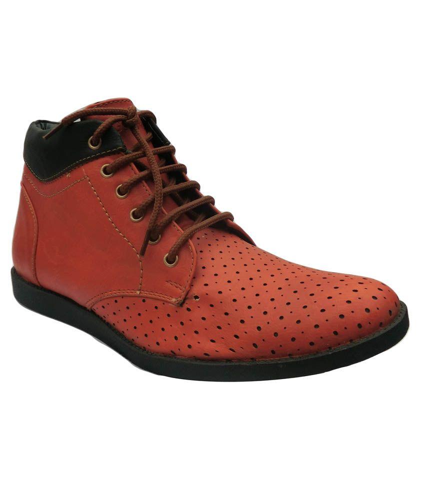 Ranger MFS08 Tan Faux Leather Designer Boot