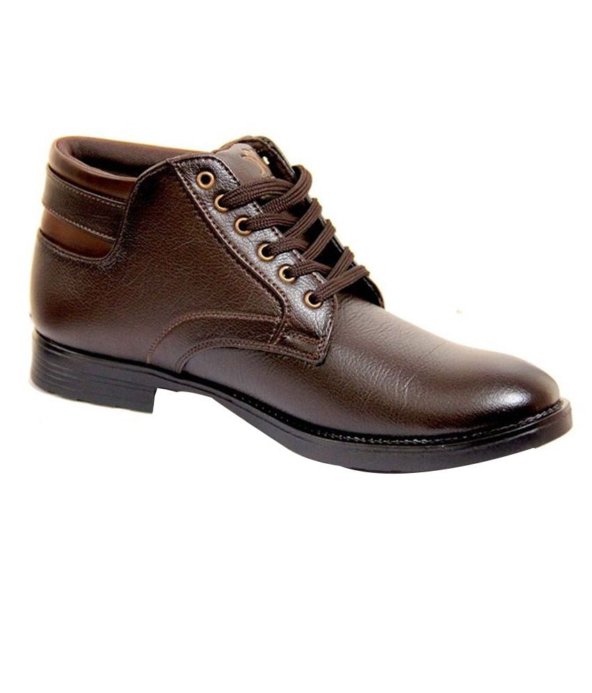 Facto Power Brown Leather Designer Boots