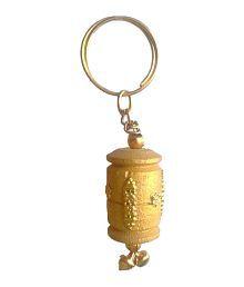 Jaipur Handicrafts Wooden Handicraft Decorative Keychain Set Of 2
