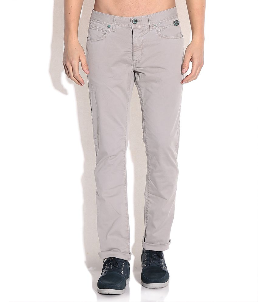 Breakbounce Gray Comfort Fit Chino Trousers