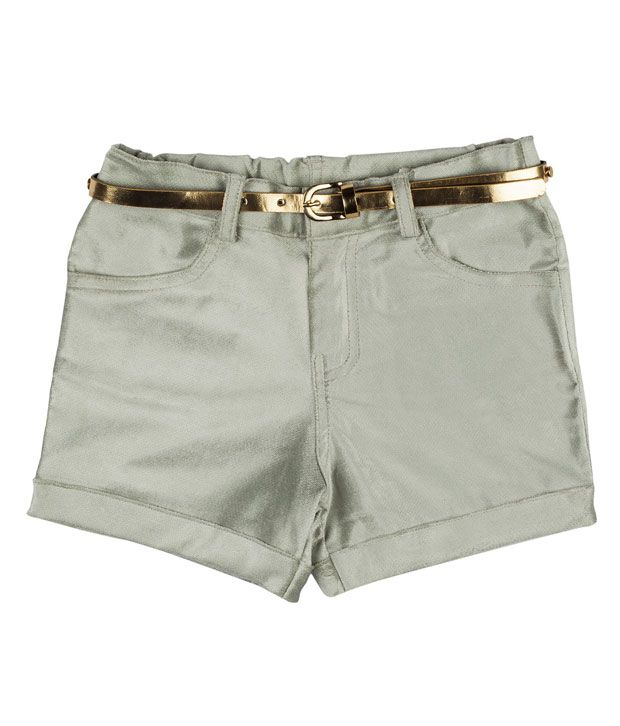 Hunny Bunny Grey Swade Shorts with Golden Belt