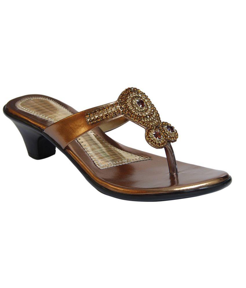 Stefino Gold Cone Heels
