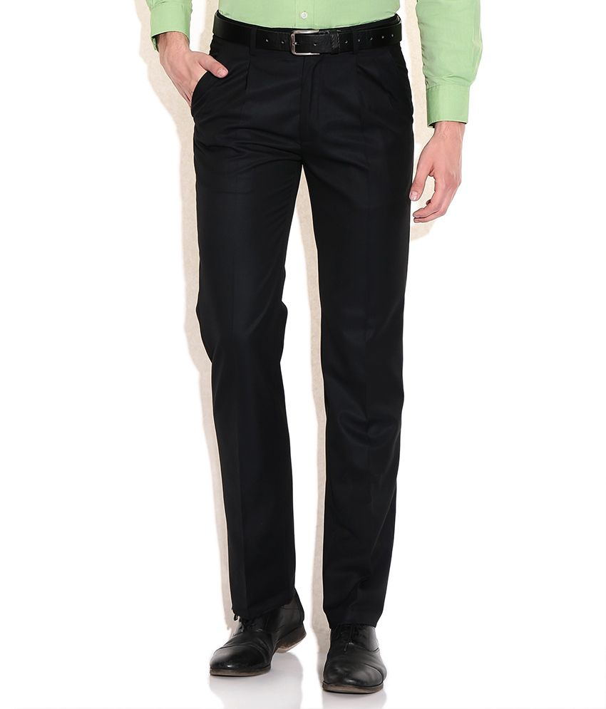 Arrow Black Regular Fit Formal Trouser