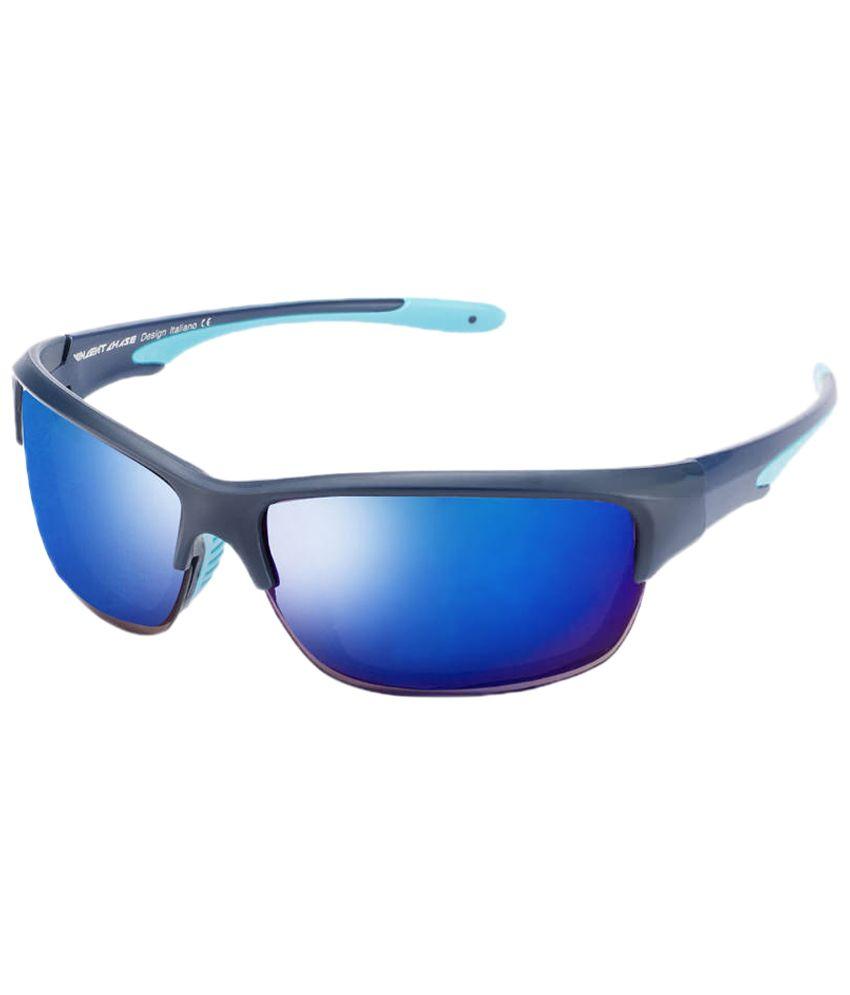 Vincent Chase Incredible Black & Blue Sport Sunglasses