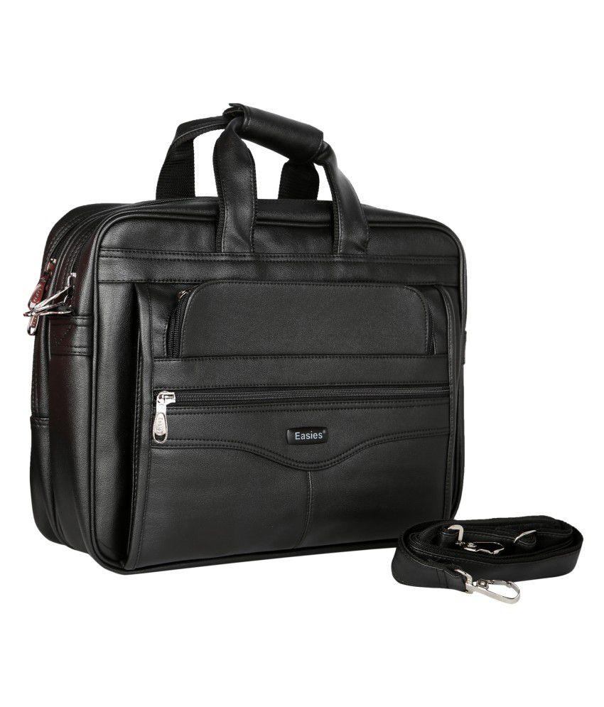 Easies Black Light Weight Executive Office Bag - Buy Easies Black ...