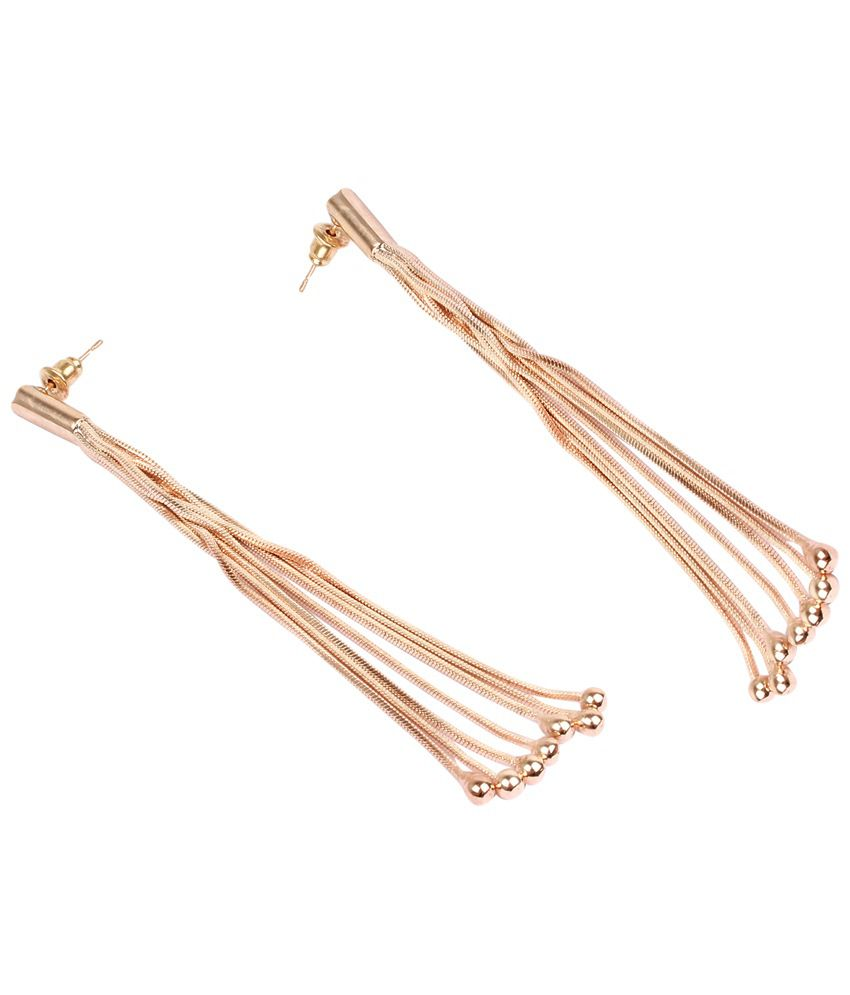 Dee Gee Mesmerising Gold Finish Hanging Earrings