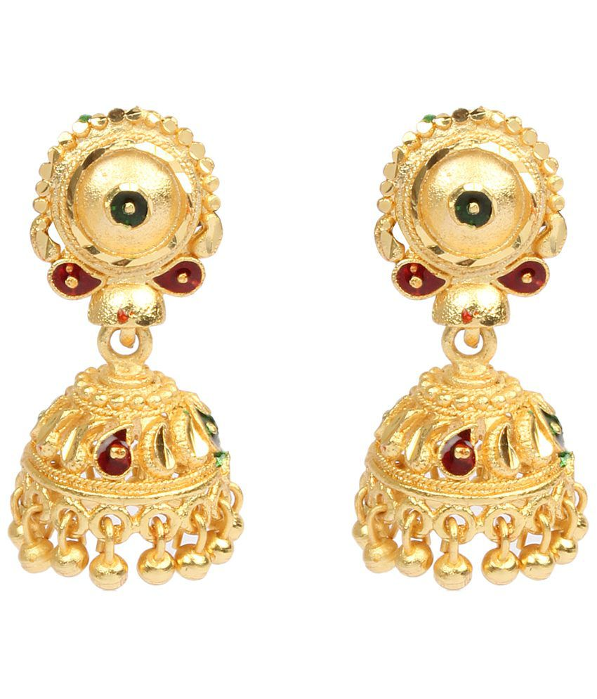 Dee Gee Mind Blowing Gold Toned Jhumkis