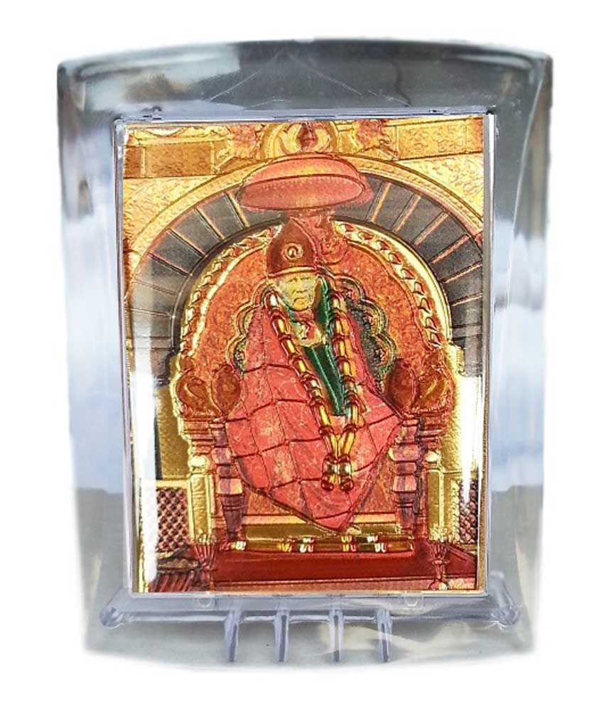Gold Art 4 U Gold Foil Sai God Image With Frame