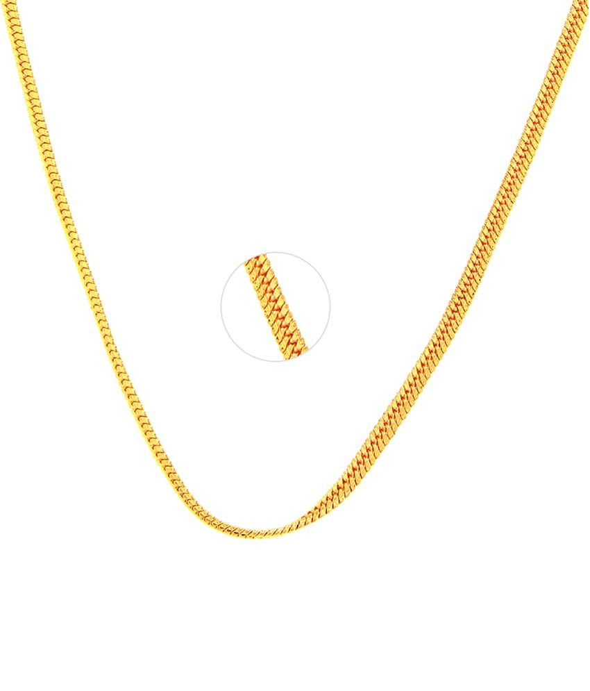 Goldnera Gold Plated Thin Pletted Women's Chain