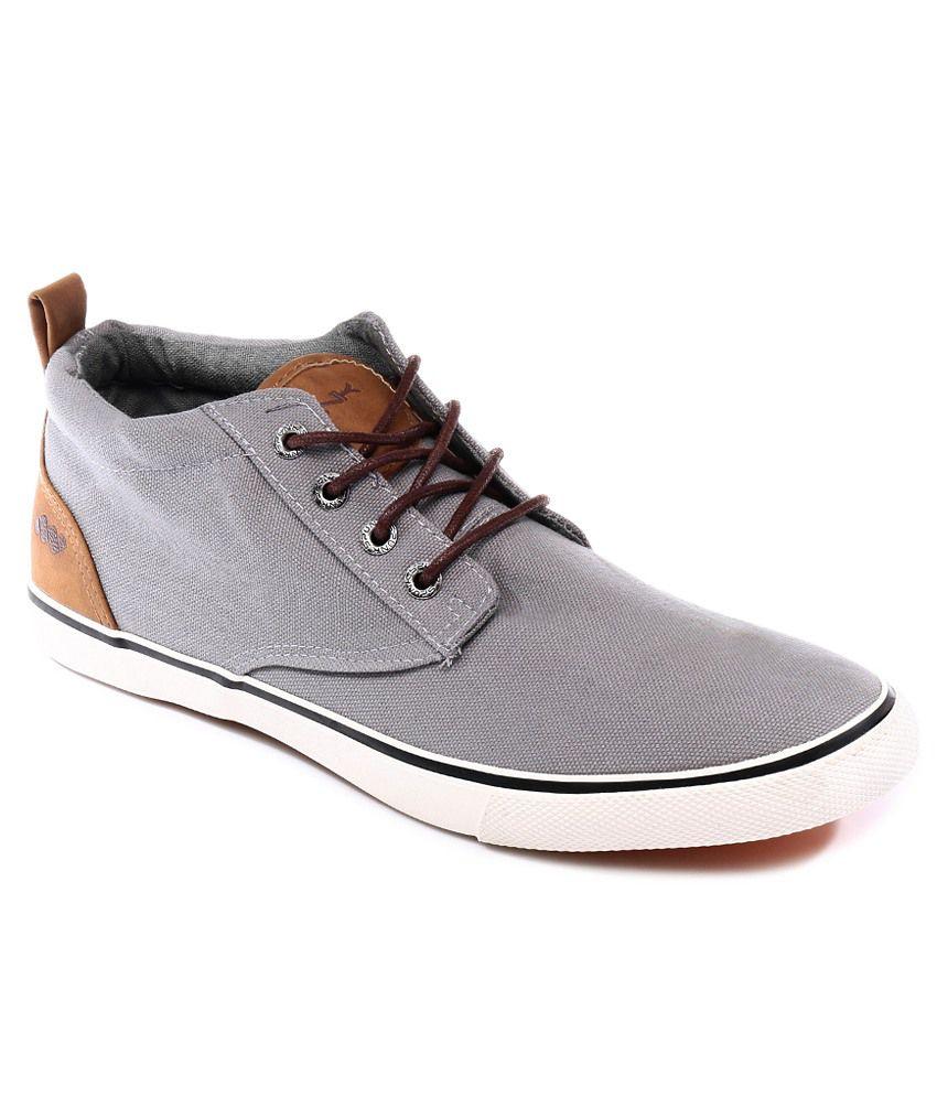 SPUNK. Gray Canvas Shoes - Buy SPUNK