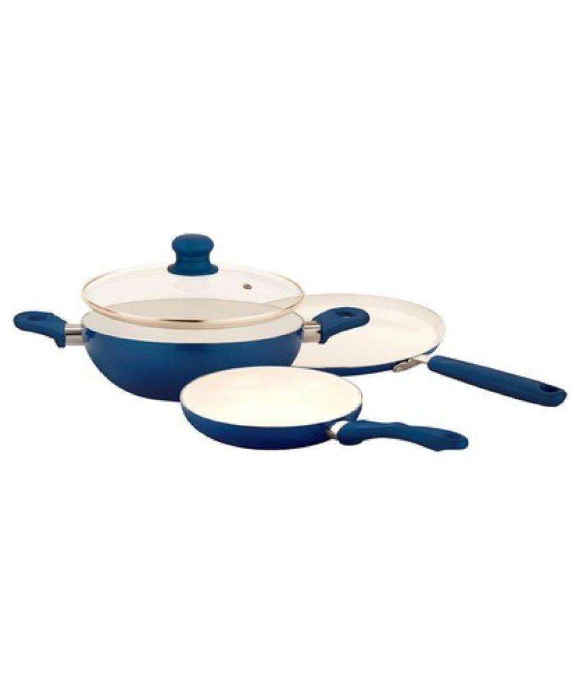 Tibros Ceramic Coating Non Stick Cookware Set Of 6 Buy