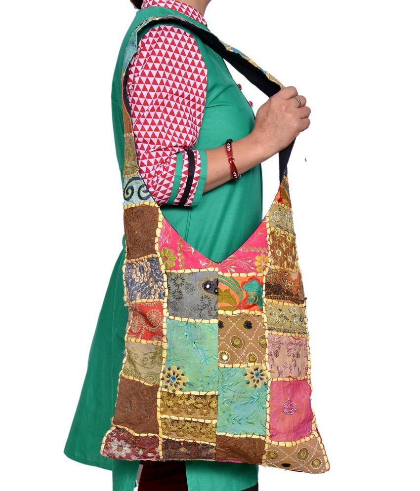 Urban Style Beige Canvas Cloth Rajasthani Jholas