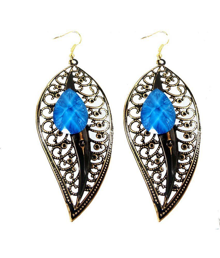 Modish Look Black Style Diva Party Wear Earrings