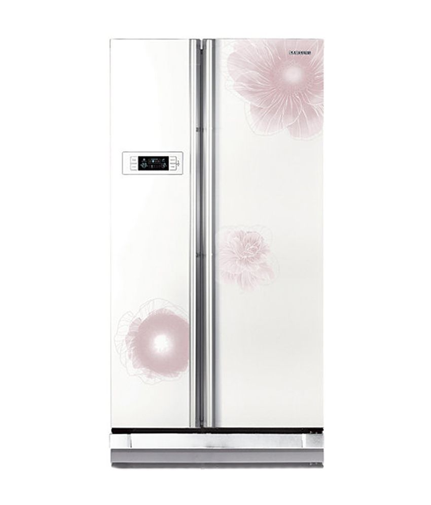 Samsung 600 Ltr RS21HSTWA1/XTL Side by Side Refrigerator - Camellia White