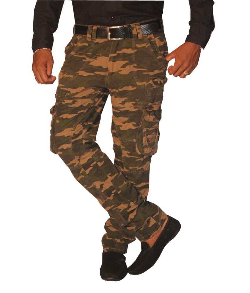 Madcaps Khaki Camoflague Military Cargo Pant