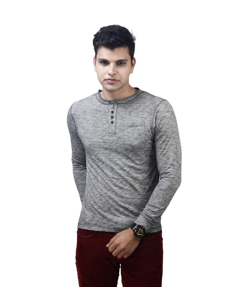 Posh 7 Cotton Gray Full T Shirt