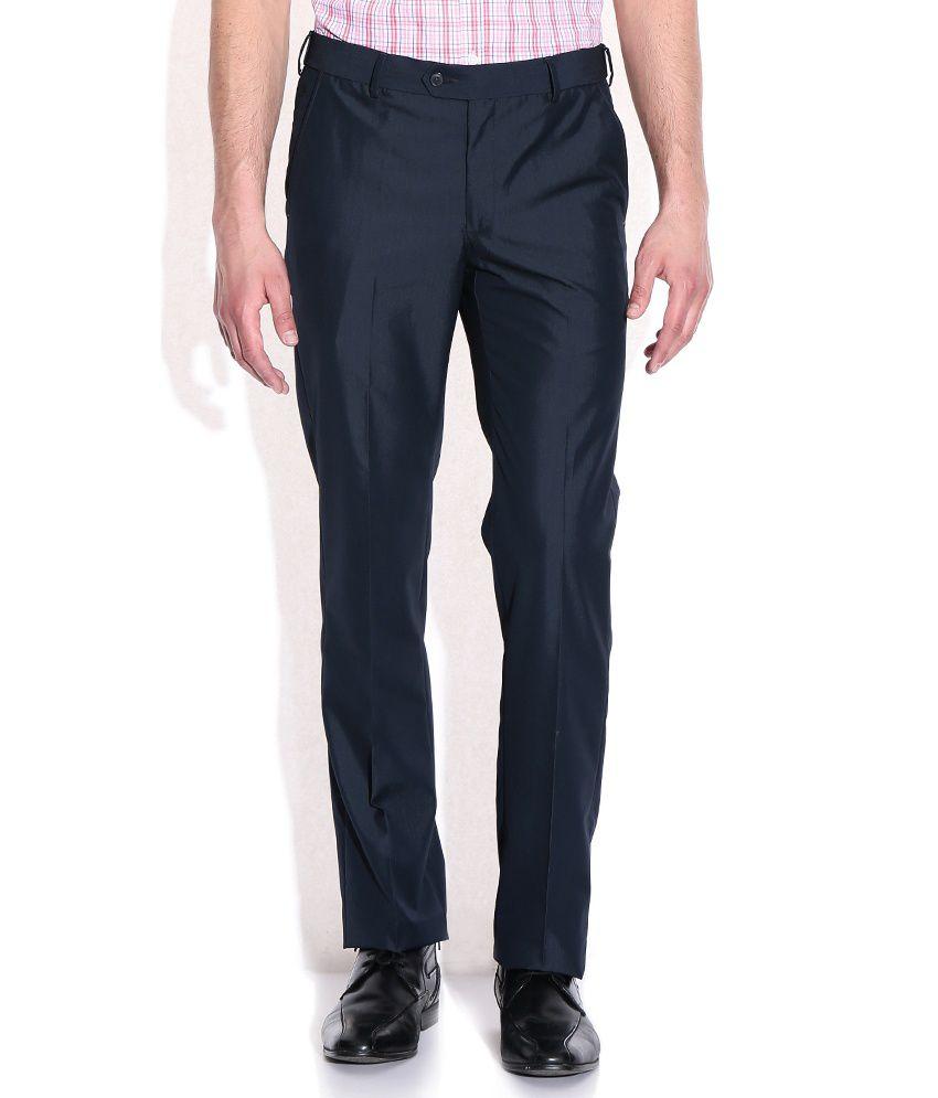 Elitus Gray Poly Viscose Formals Trouser