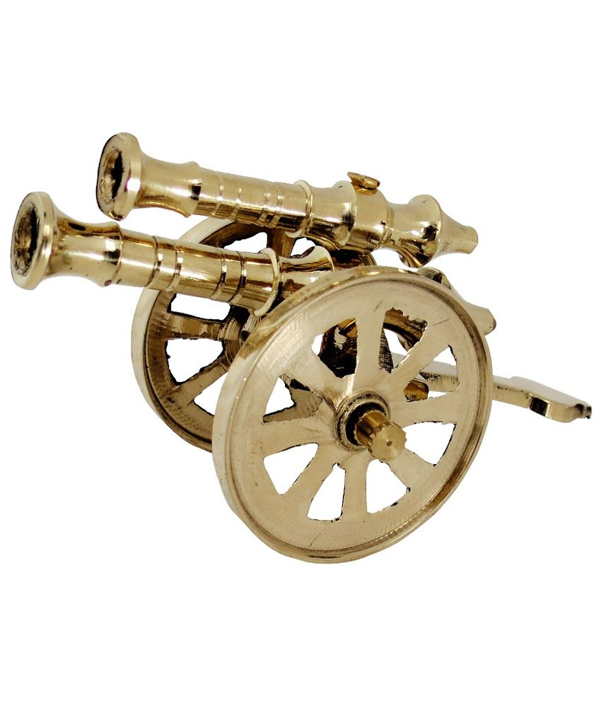 pindia fancy home decor small brass top cannon show piece fancy home coffee bar decor 20 in with home coffee bar