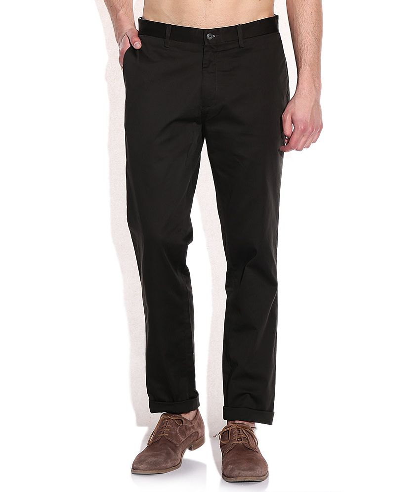 Ruggers Brown Cotton Casuals Chinos