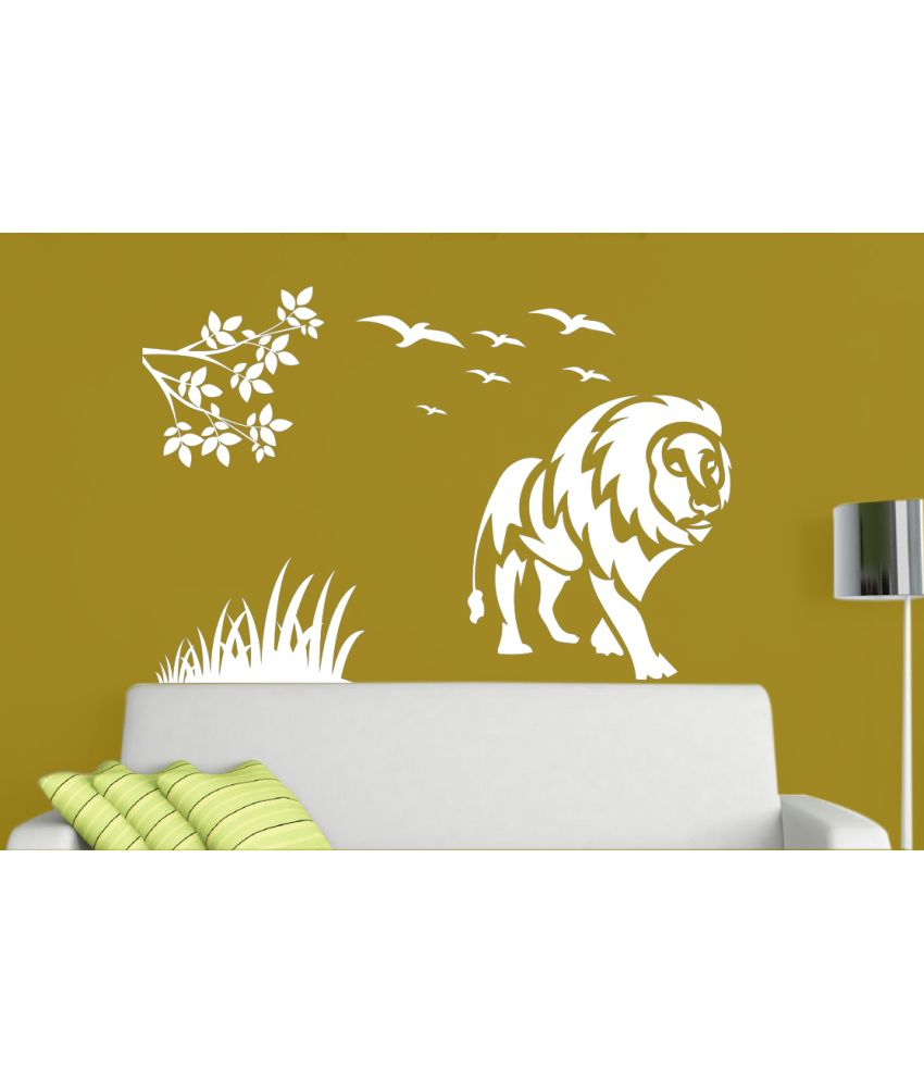 Hoopoe Decor Lion In Jungle Wall Stickers And Wall Decals, A Wall ...